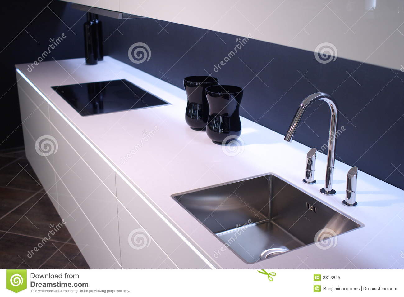 Modern Kitchen Sink Royalty Free Stock Photo Image 3813825