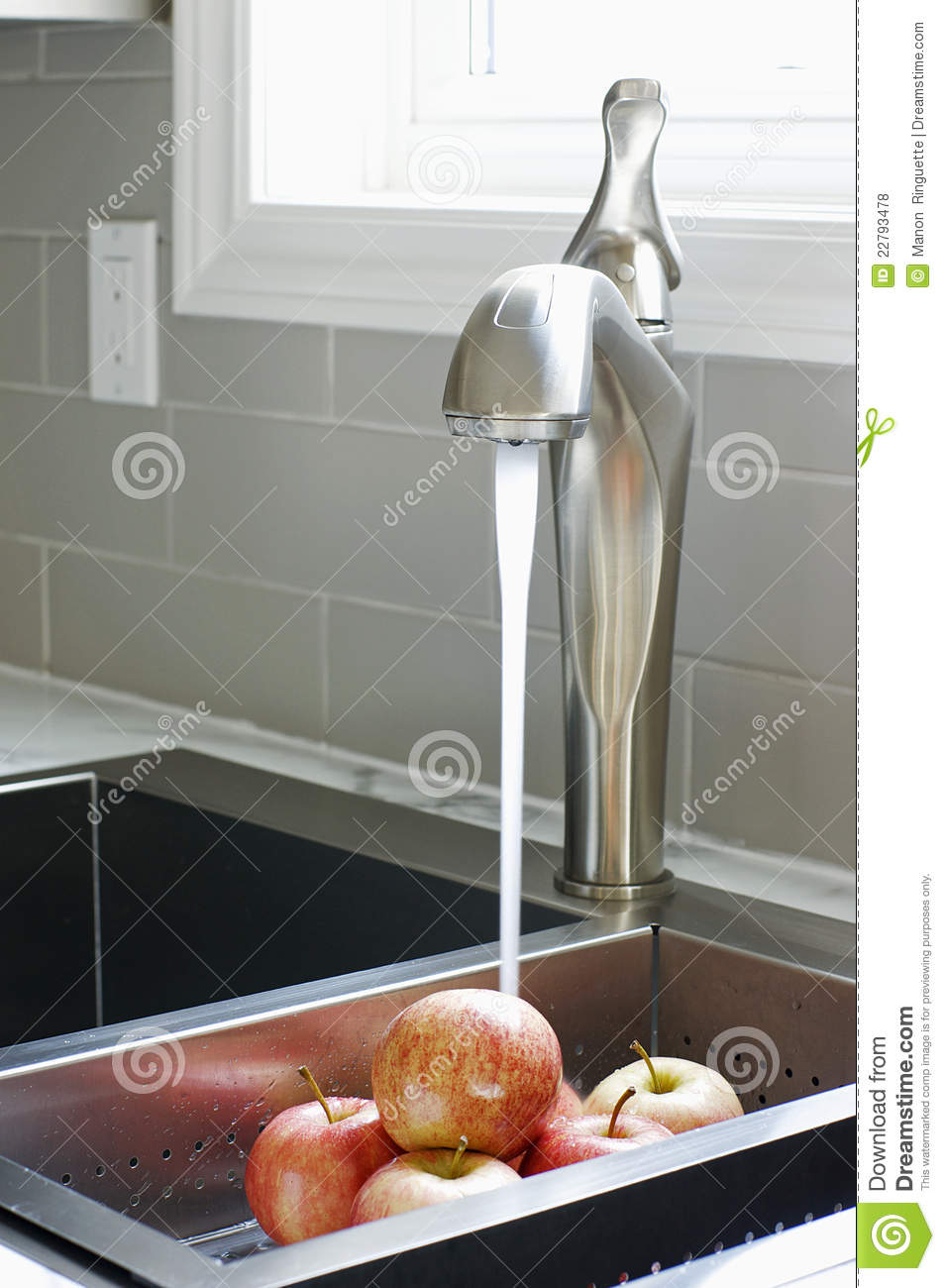 royalty free stock photos modern kitchen sink faucet image kitchen sink faucet Modern Kitchen Sink and Faucet