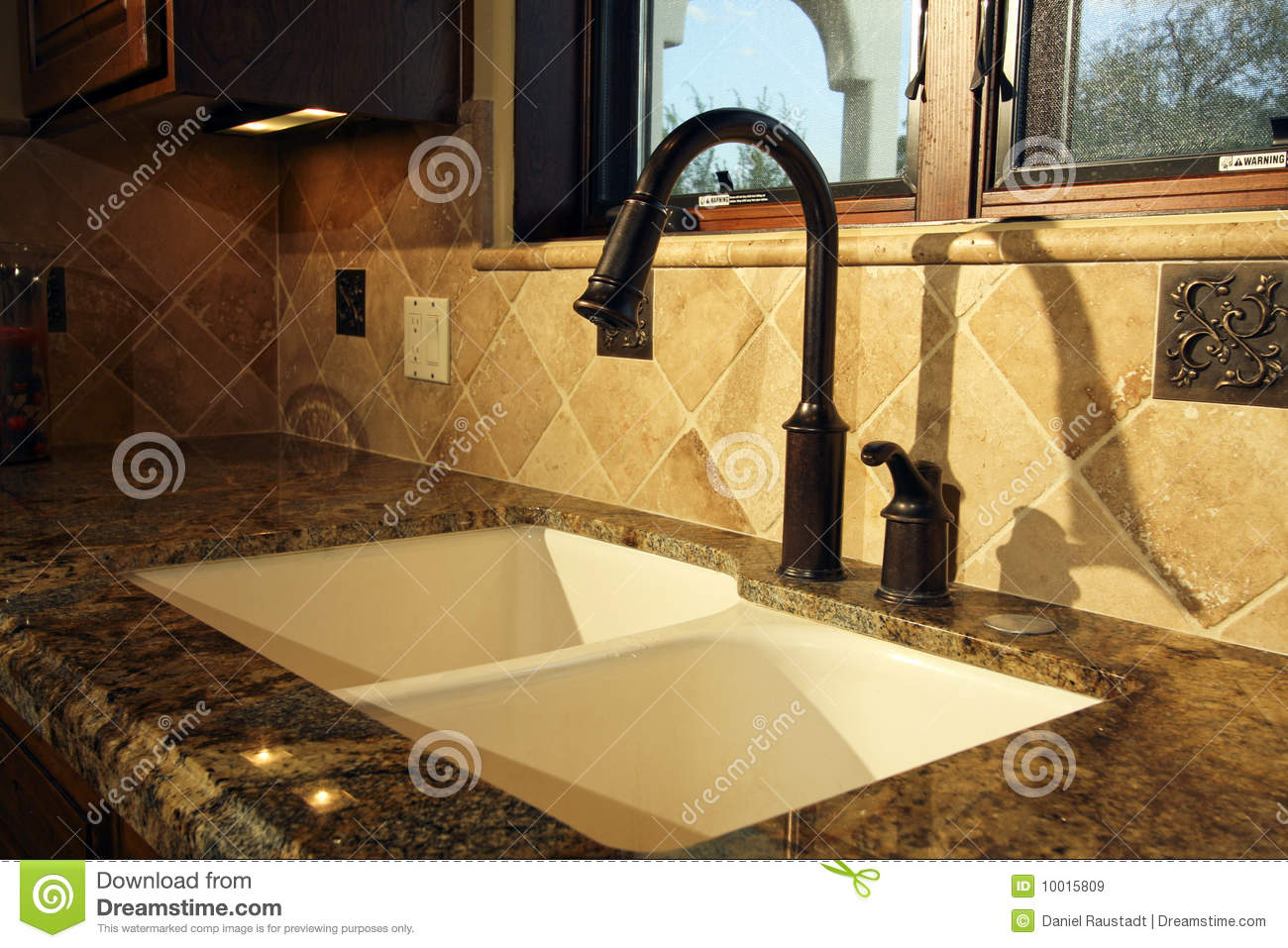 Modern Kitchen Sink And Fixtures Stock Image Image 10015809