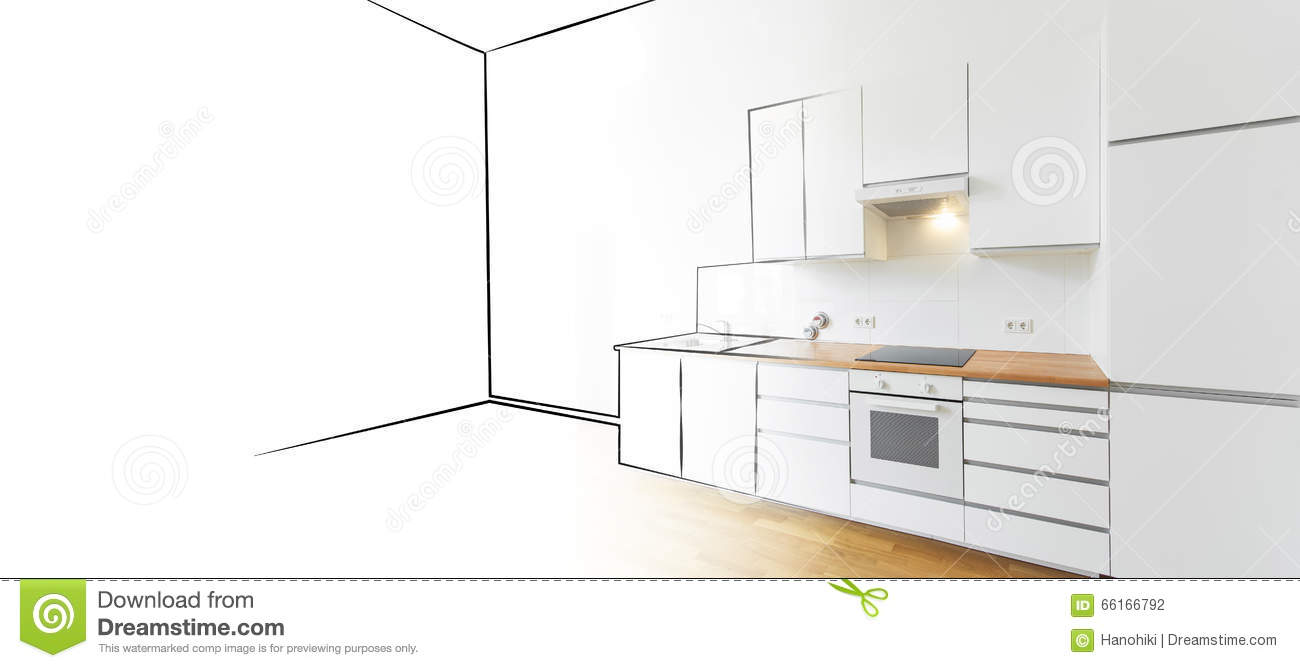 sketch kitchen design modern kitchen sketch and photo interior design concept 2288