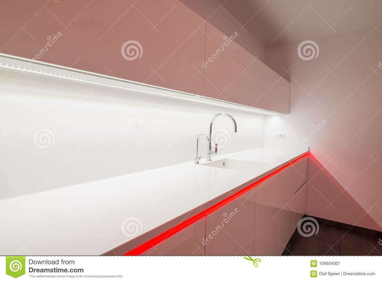 Modern Kitchen Interior Stock Image Image Of Work Elegance 104654001