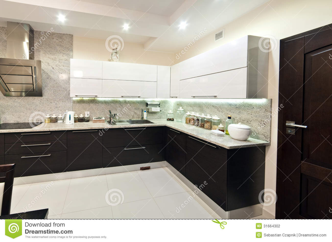 Royalty Free Stock Photo. Download Modern Kitchen View ...