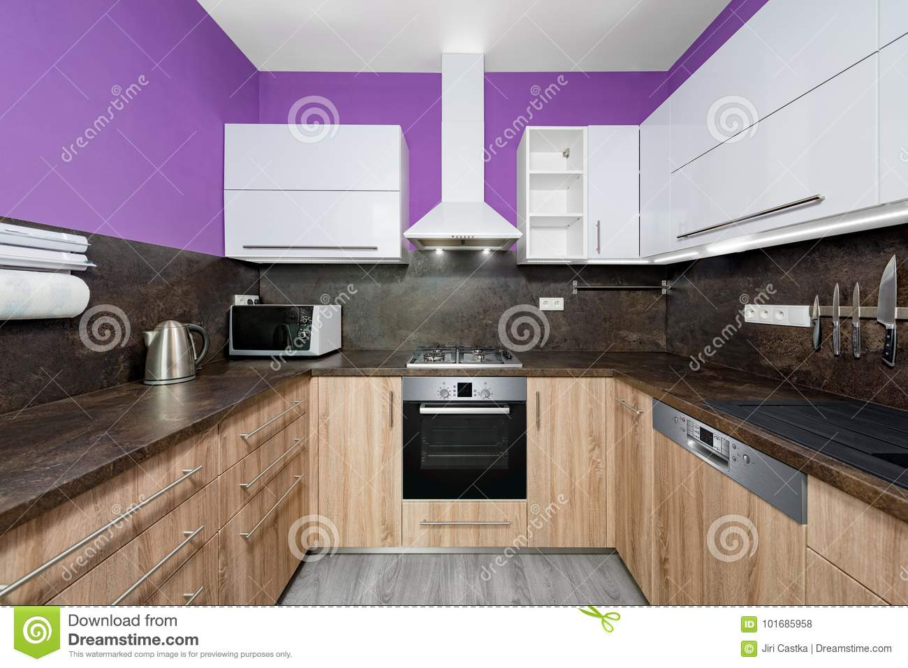 kitchen stock photo image of fridge modern furniture 101685958