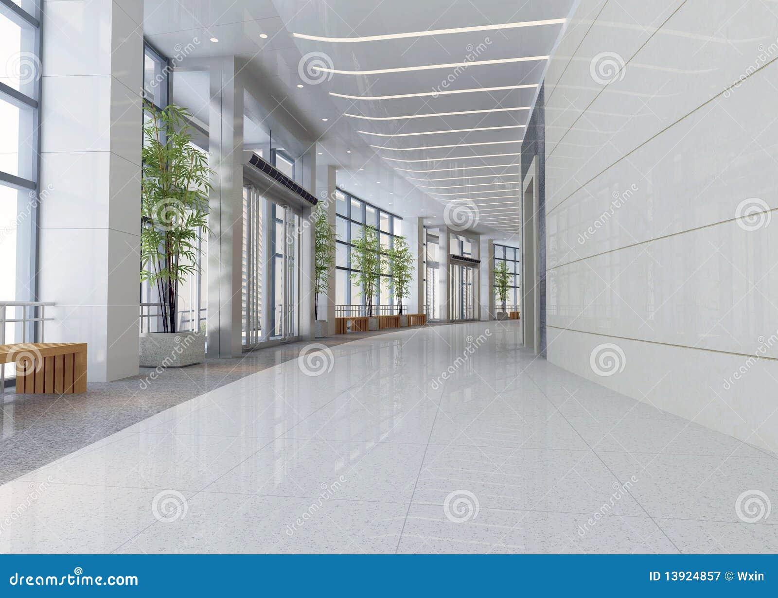 Modern korridor för korridor 3d