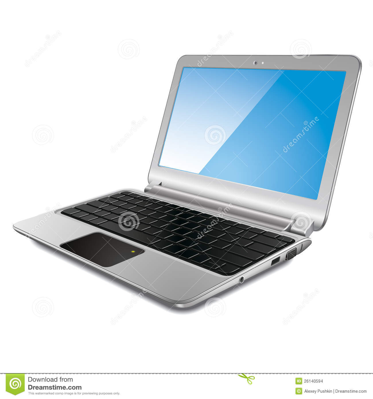 Modern Laptop, Vector Illustration Stock Images - Image ... Laptop Vector Illustration