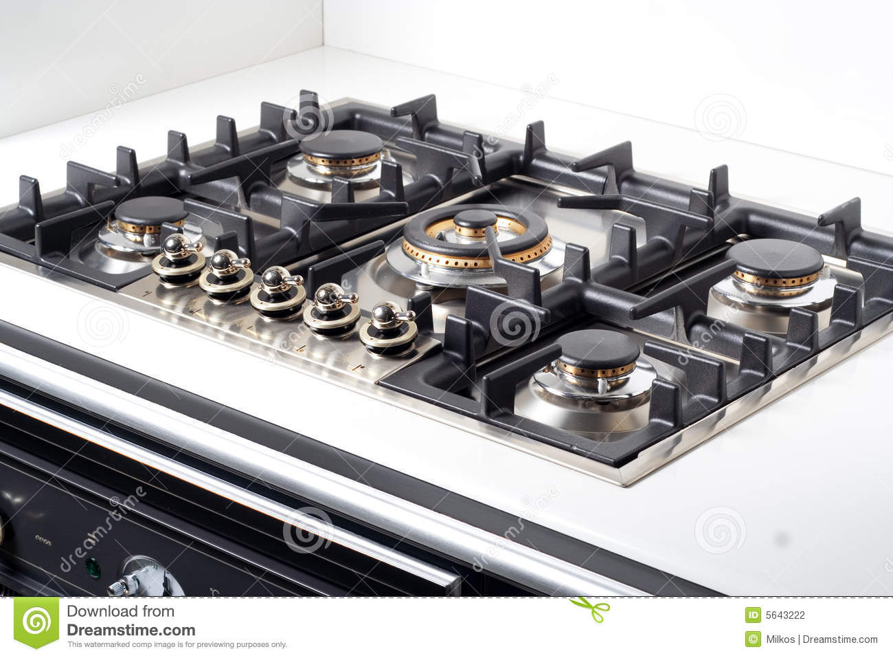 Modern Kitchen Stove modern large gas stove stock photography - image: 5643222