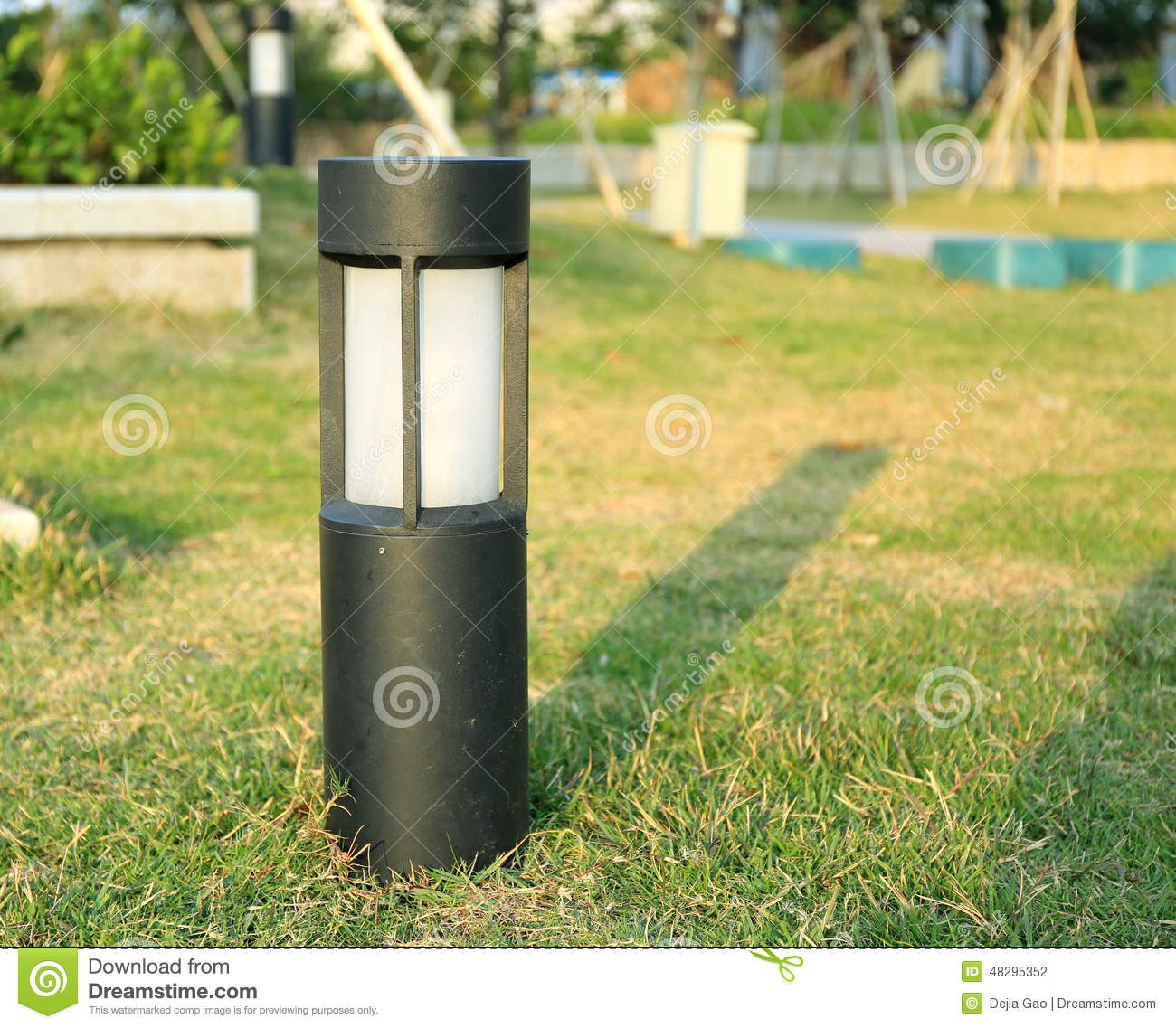 Lawn lamp landscape lighting outdoor garden light stock image lawn lamp outdoor light garden landscape lighting stock photography mozeypictures Images