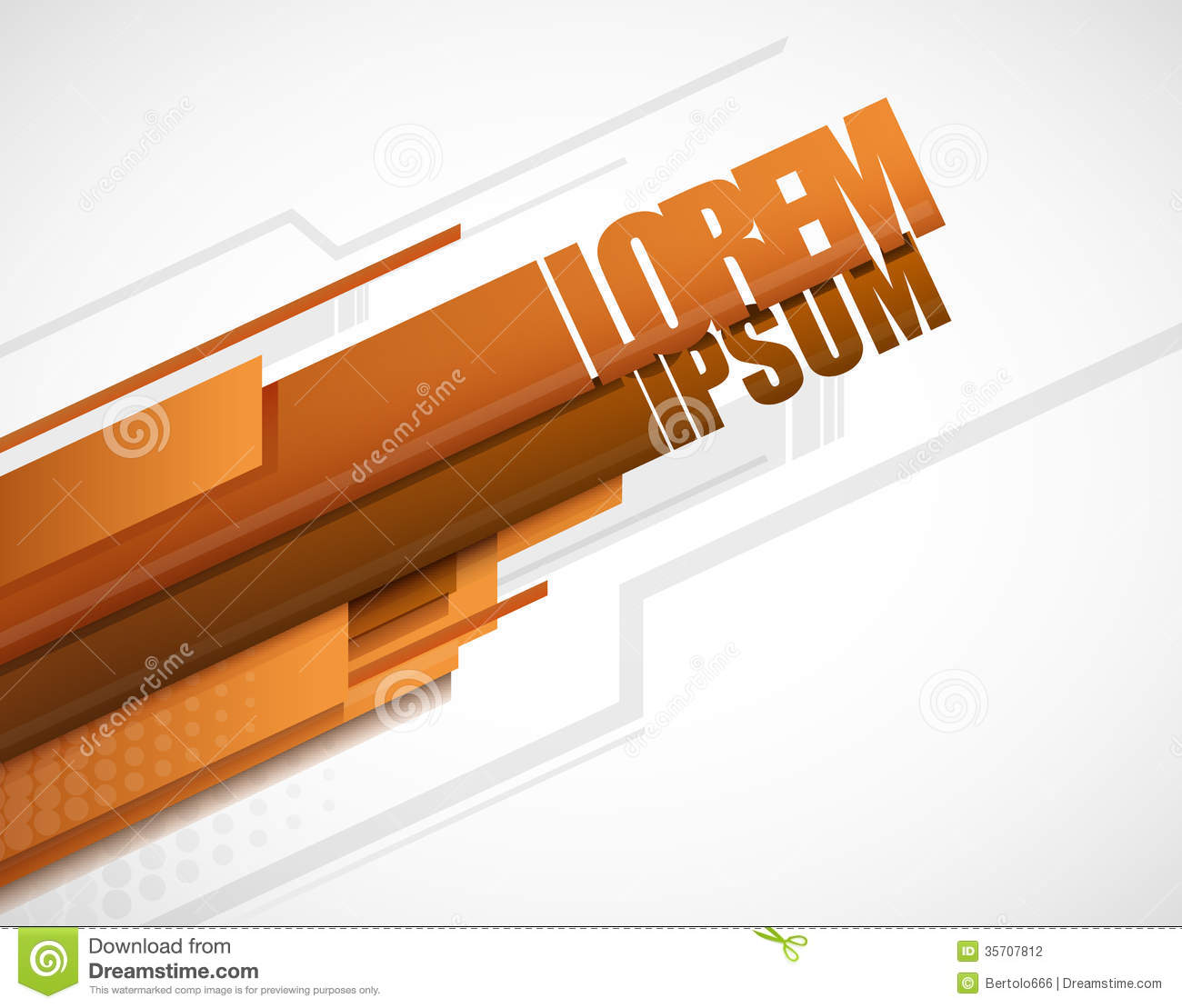 Modern Layout Orange Stock Photography Image 35707812