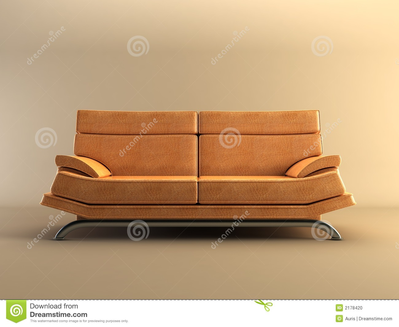 modern leather couch stock photo image 2178420. Black Bedroom Furniture Sets. Home Design Ideas