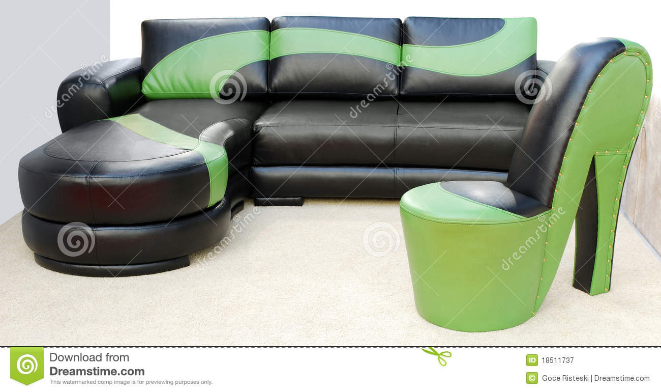 Modern leather furniture royalty free stock photography - Sofas modernos fotos ...