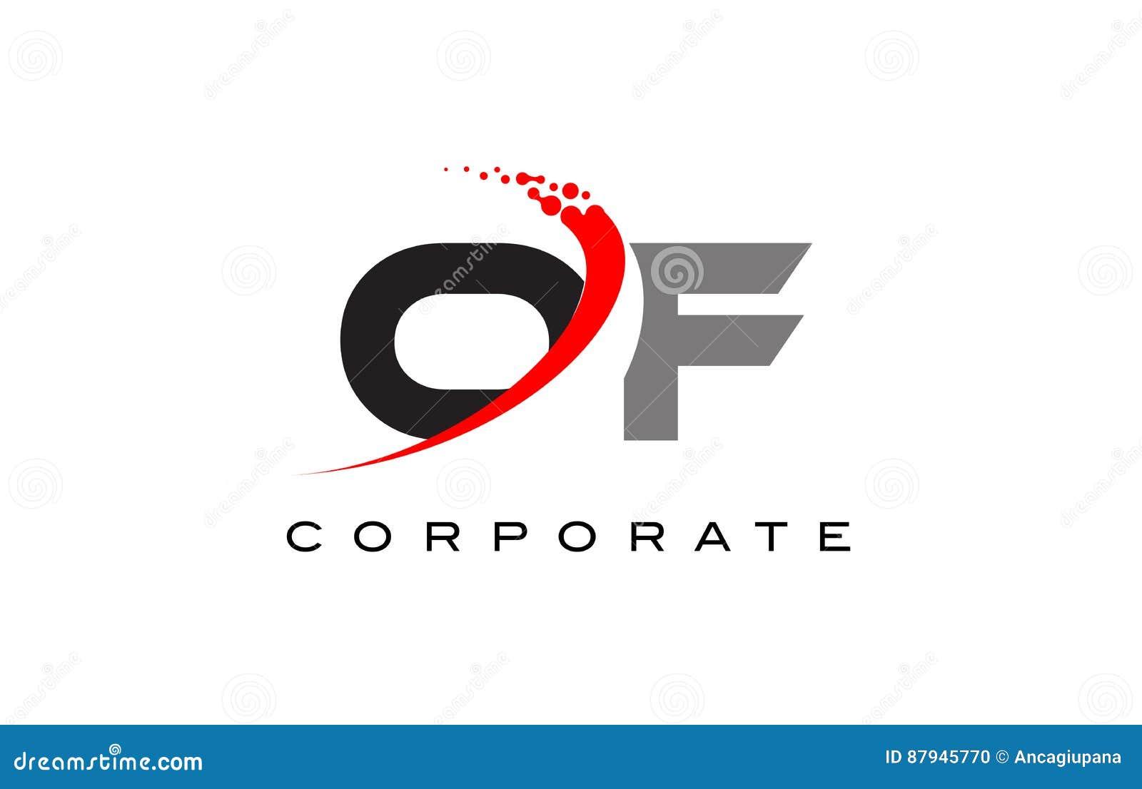 Of Modern Letter Logo Design With Swoosh Stock Vector