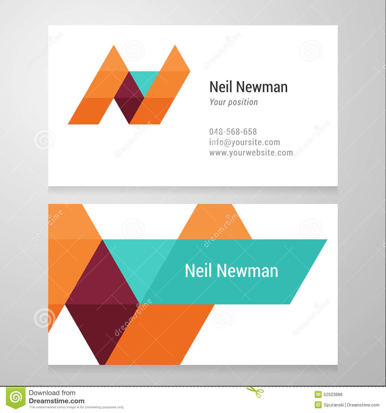 Modern letter n business card template stock vector illustration modern letter n business card template royalty free vector reheart Images