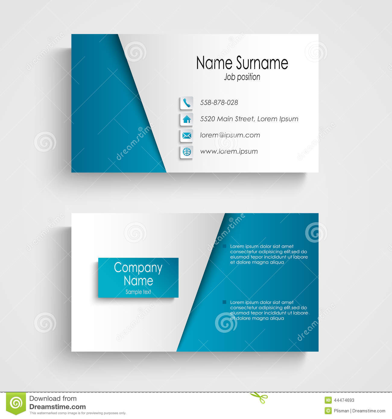 Modern light blue business card template stock illustration modern light blue business card template colourmoves