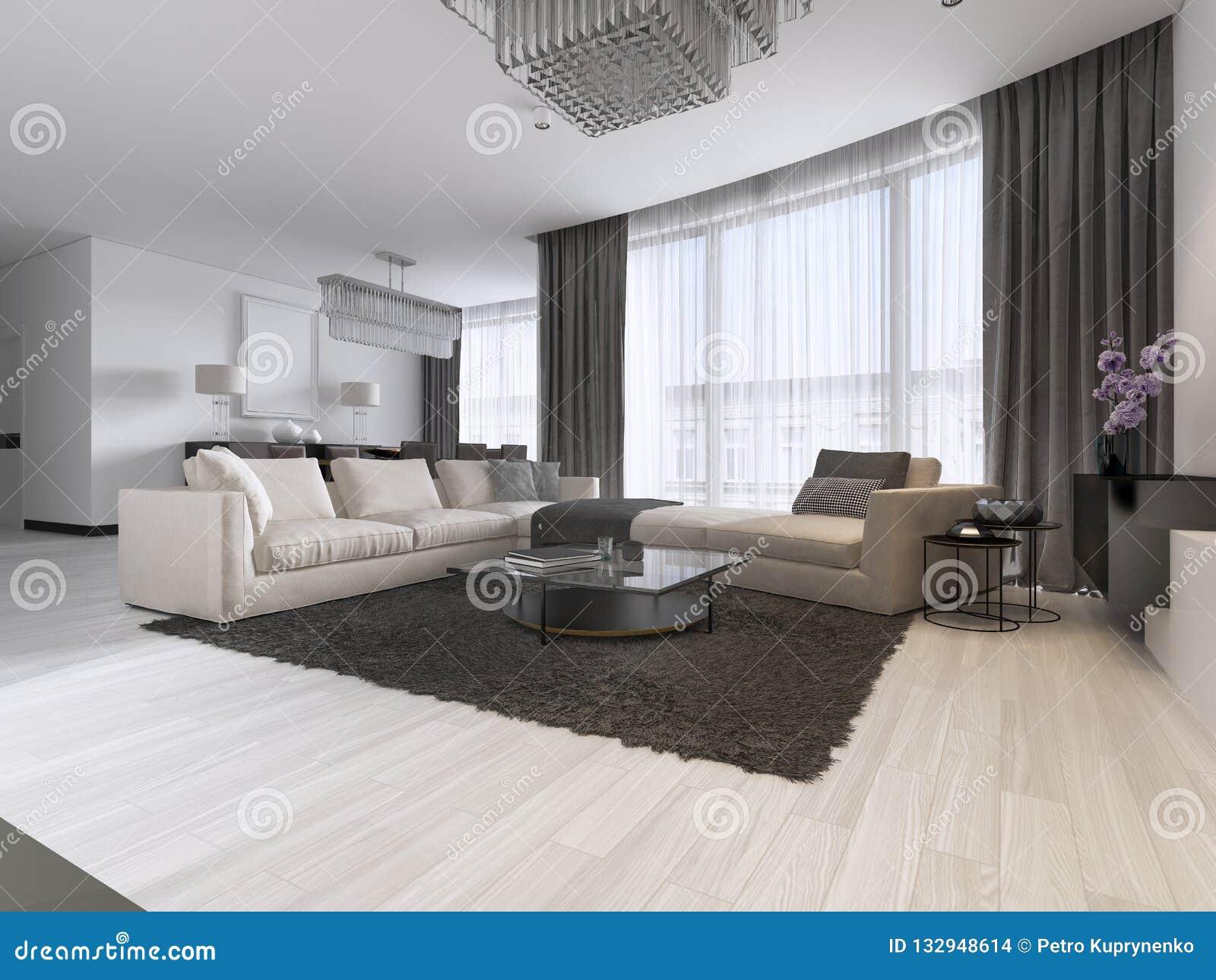 Fantastic Modern Light Contemporary Living Room With Large Corner Sofa Download Free Architecture Designs Parabritishbridgeorg