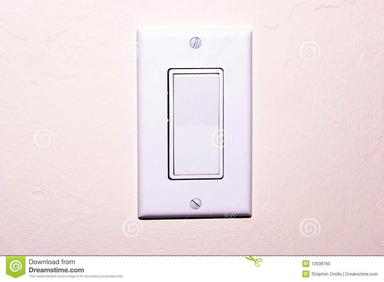 Modern light switch stock photo. Image of architecture - 12638760