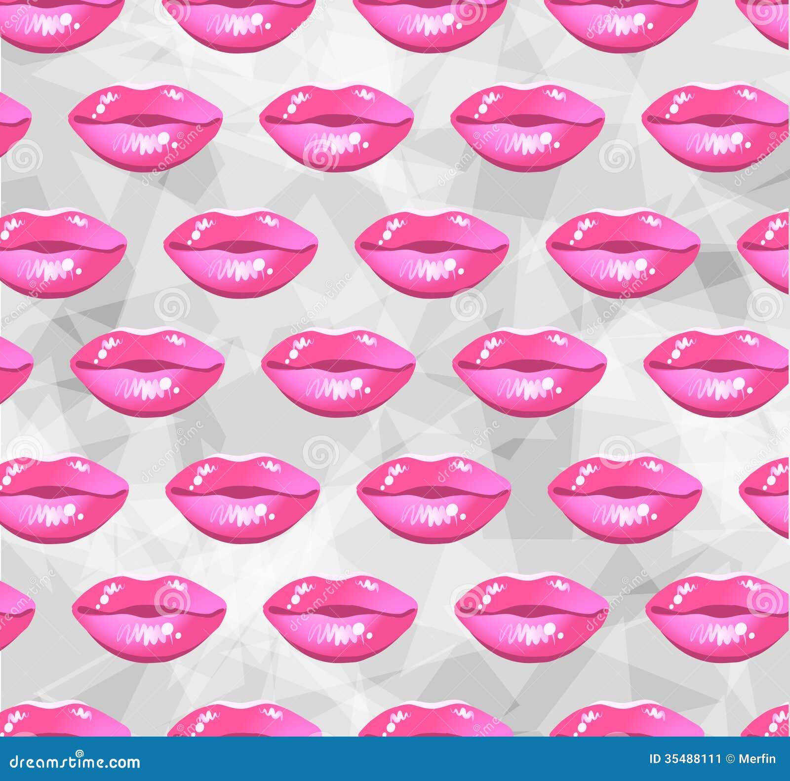 Modern lips background stock image image 35488111 - Pink lips wallpaper ...