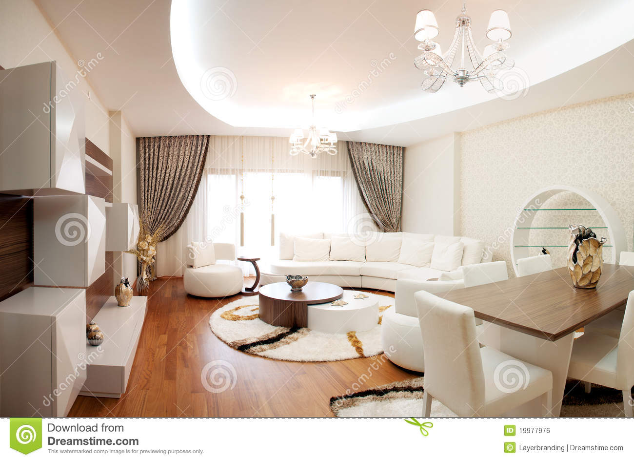 Modern Live room stock photo. Image of architecture, decoration ...