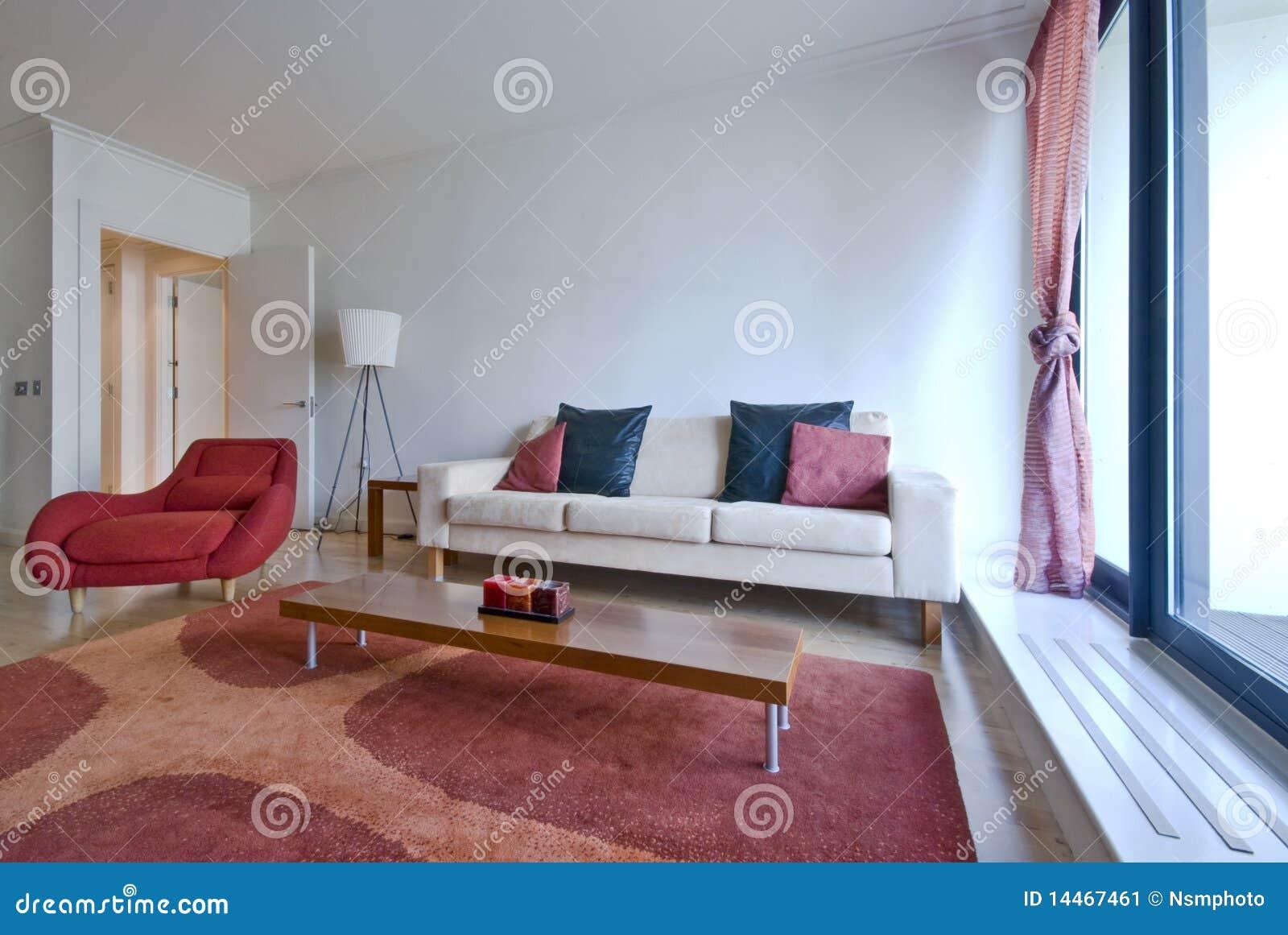 Modern living area with designer furniture