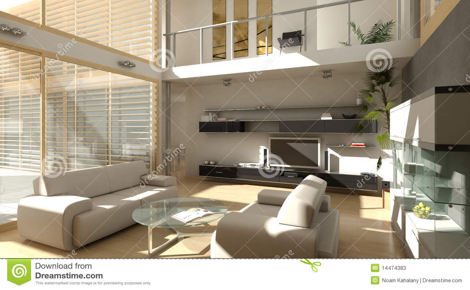 Modern Living Room Stock Image Image Of House Sofa
