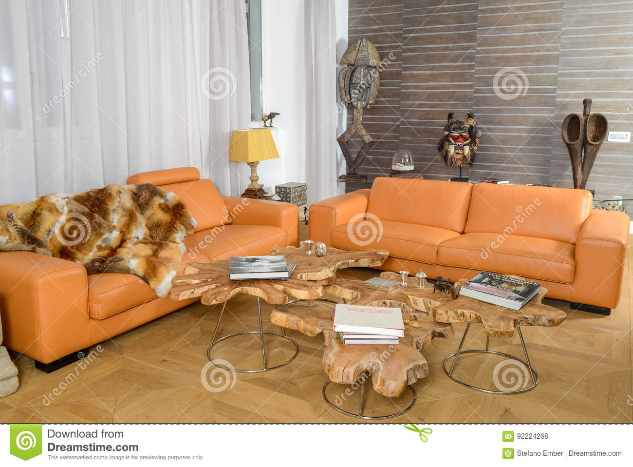 Modern living room editorial stock photo. Image of african ...