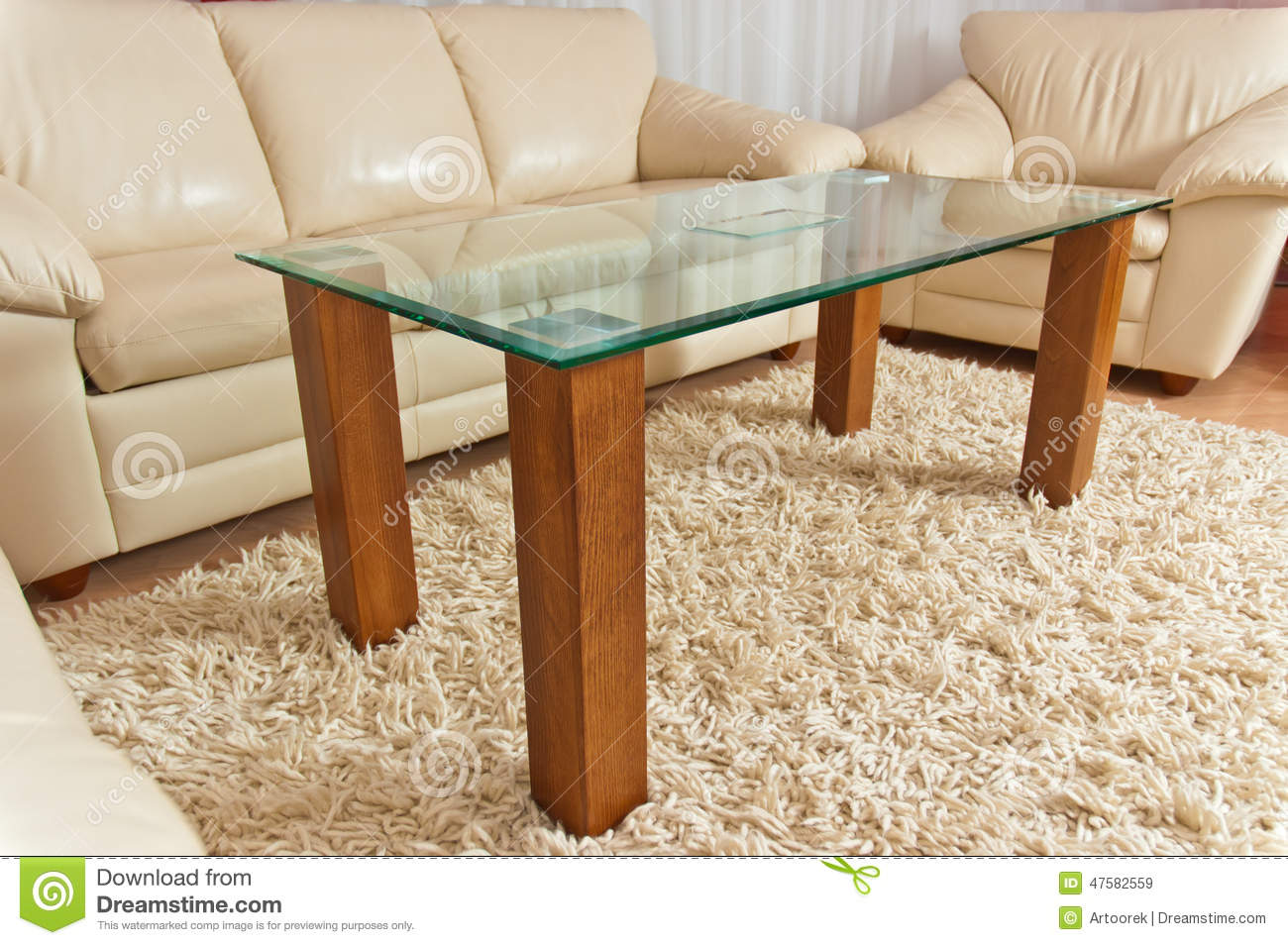 Modern living room stock image image of chrome furniture for Cream glass coffee table