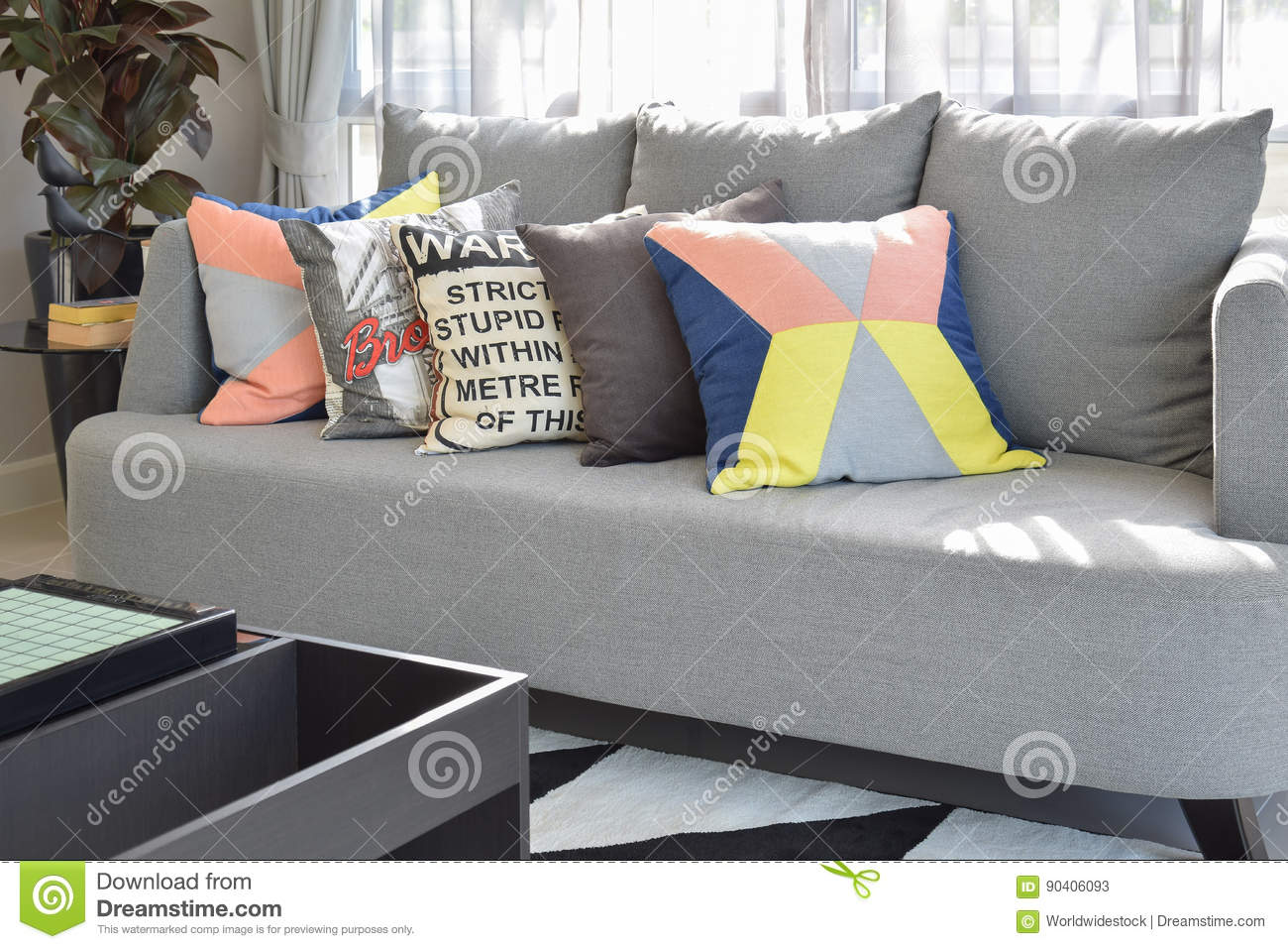 Magnificent Modern Living Room Design With Colorful Pillows On Sofa Cjindustries Chair Design For Home Cjindustriesco