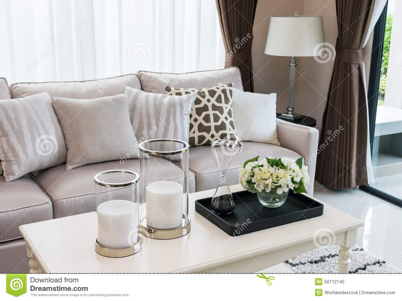 living room sofa pillows modern living room design with sofa and lamp stock photo 13226
