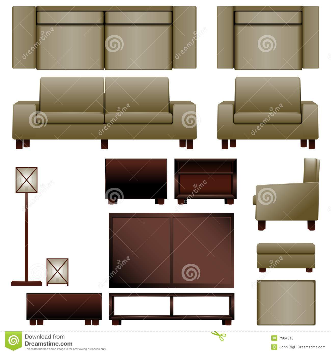Modern living room furniture - Modern Living Room Furniture Royalty Free Stock Photos - Image