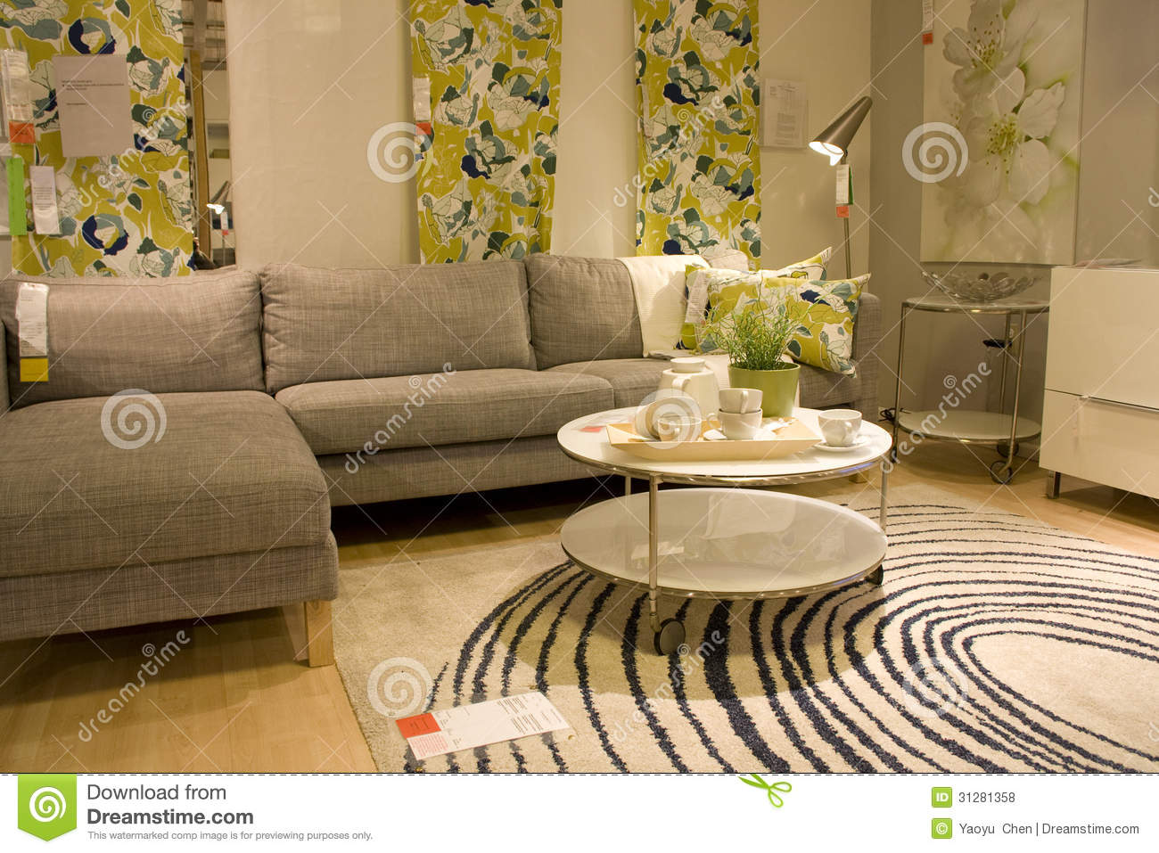 Modern Living Room Furniture Store Editorial Stock Photo