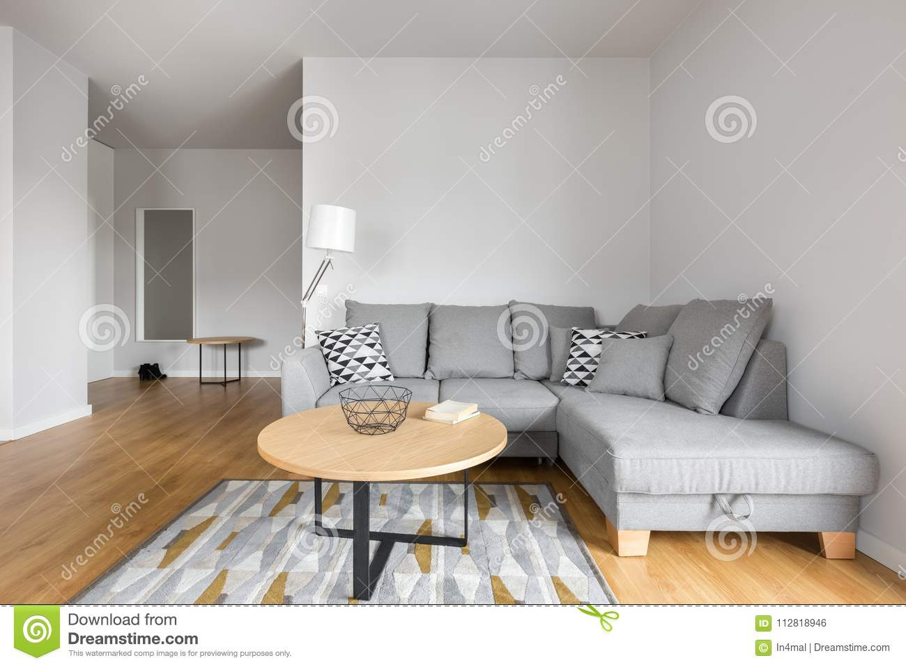Stupendous Living Room With Grey Sofa Stock Photo Image Of Decoration Inzonedesignstudio Interior Chair Design Inzonedesignstudiocom