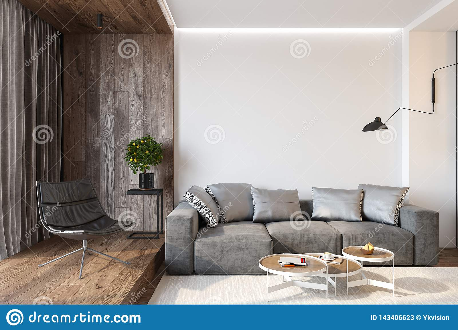 Cool Modern Living Room Interior With Blank Wall Sofa Lounge Ibusinesslaw Wood Chair Design Ideas Ibusinesslaworg