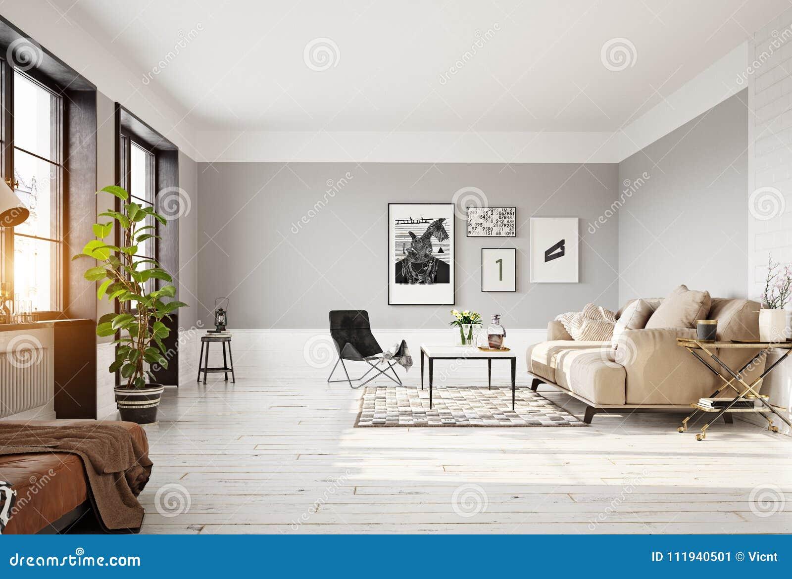 Modern Living Room Interior Stock Illustration Illustration Of Background House 111940501