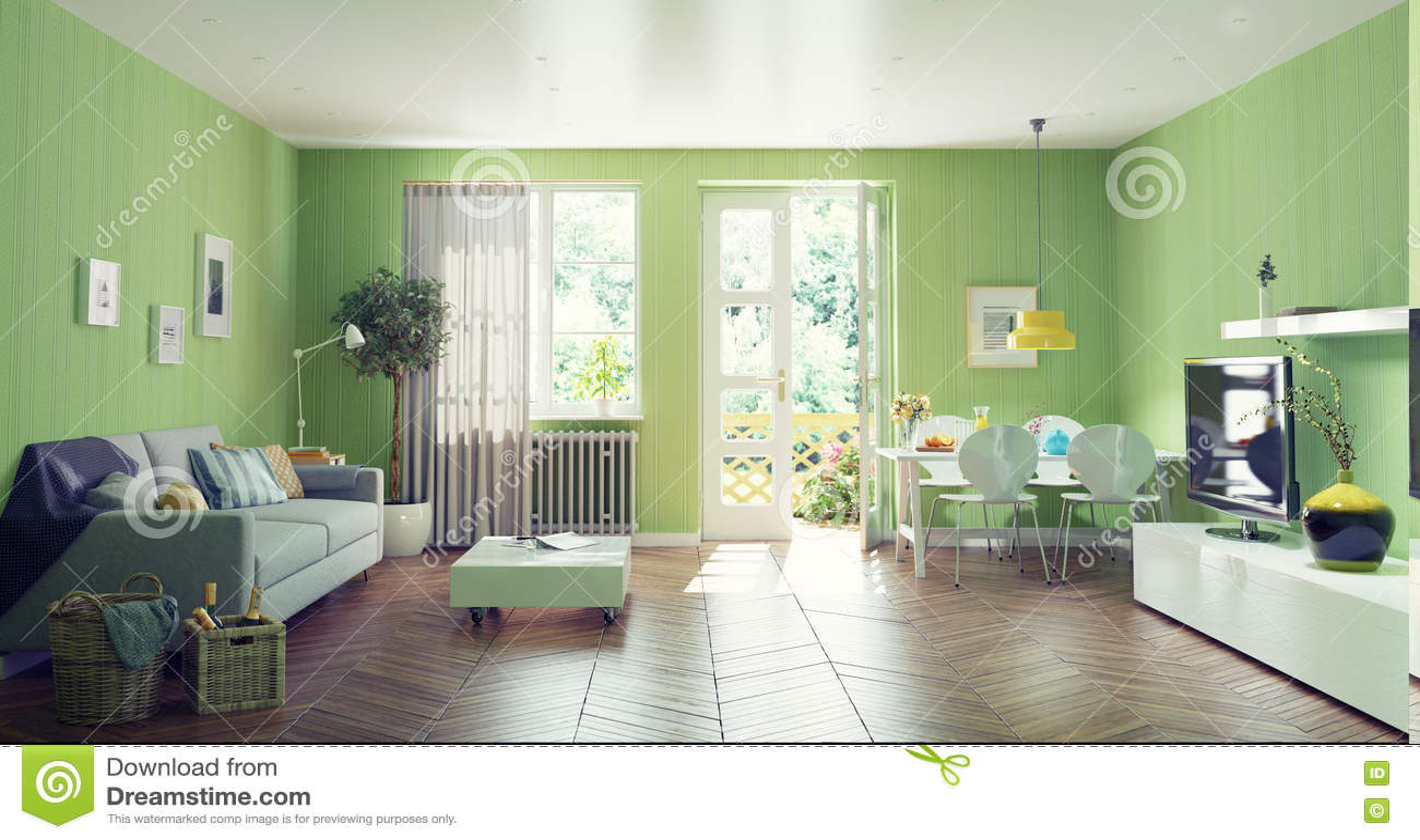 Modern living room stock illustration image 60324381 for Modern living room concepts