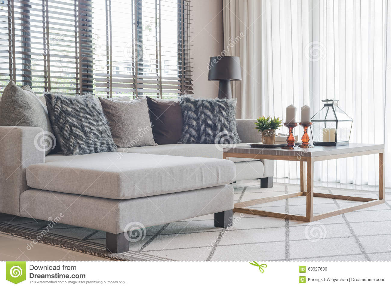 living rooms with grey sofas. Modern living room with modern grey sofa and wooden table Stock Photo Contemporary Living Room With Grey Sofa  Image
