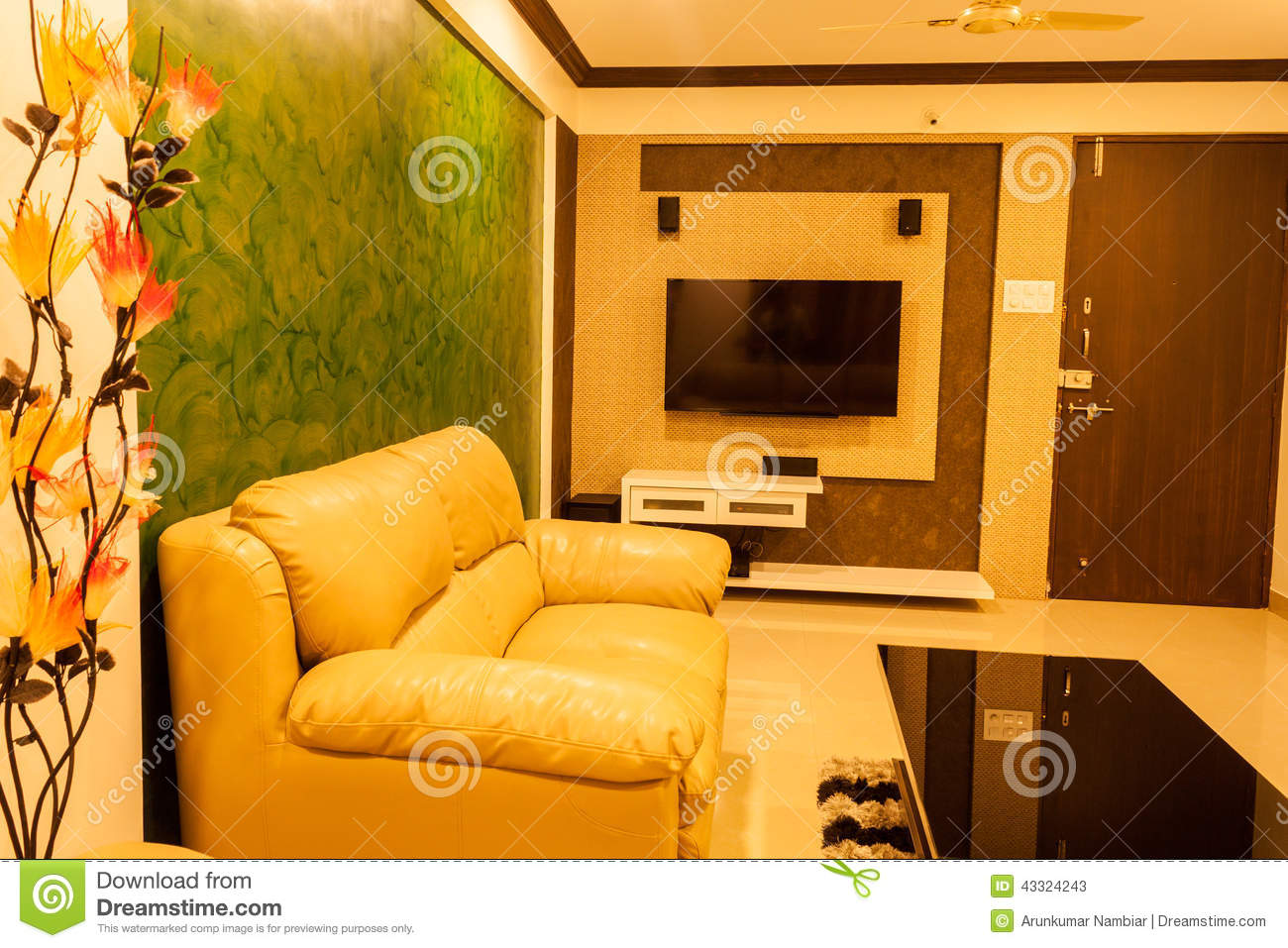Modern Living room stock image. Image of couch, beautiful - 43324243