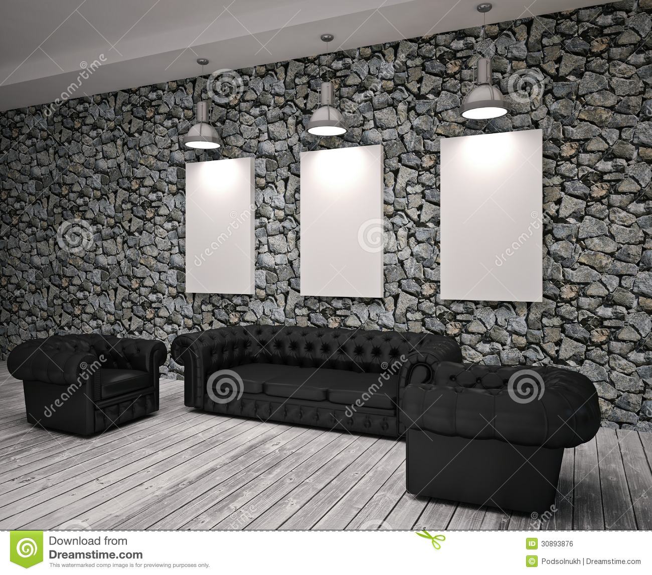 Modern Living Room Stock Photo. Image Of Parque