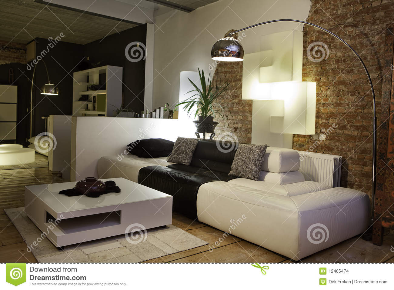 Modern Living Room Sofa Couch Design Interior Stock Photo ...