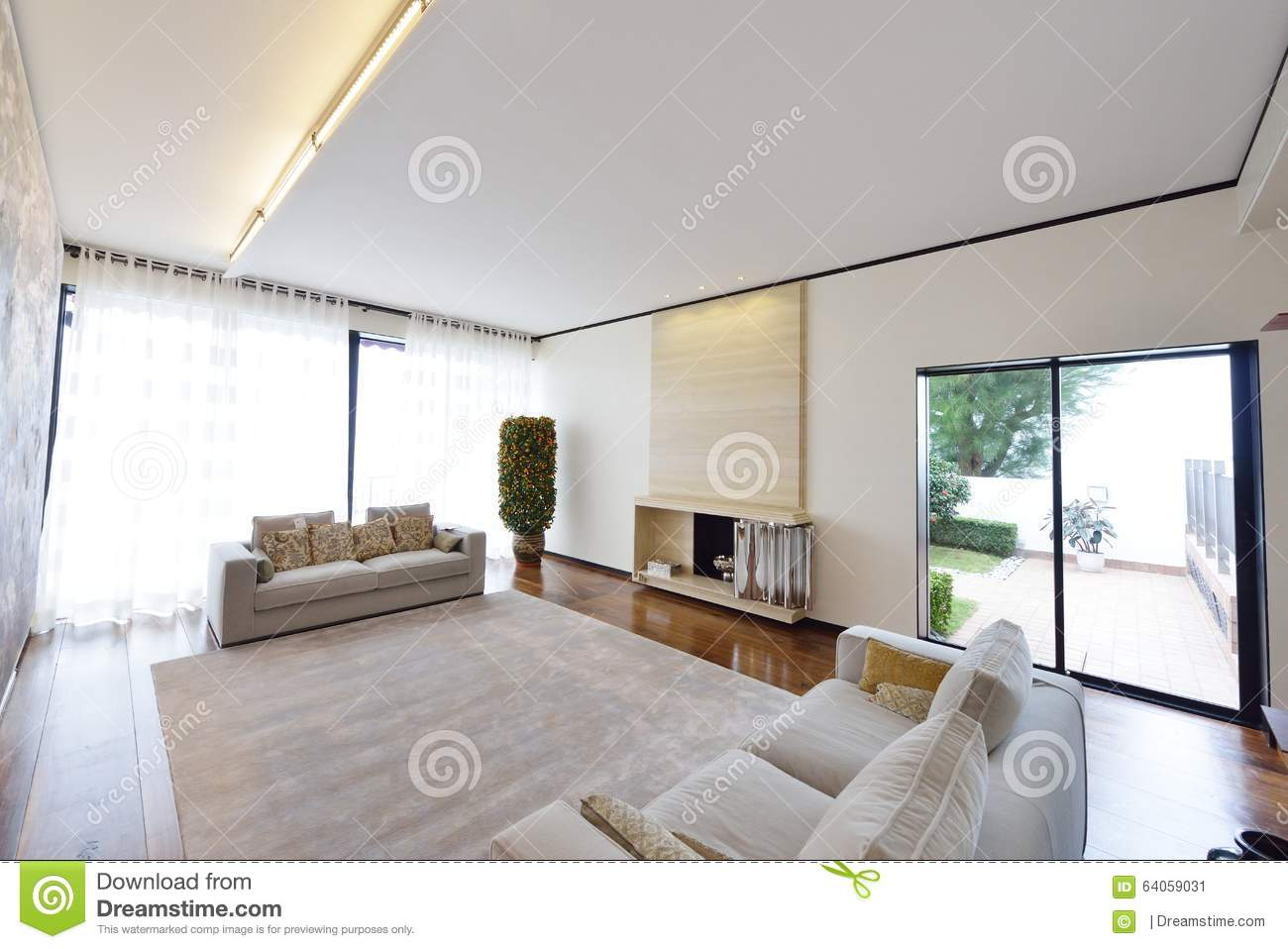 Modern living room stock image image of design interieur