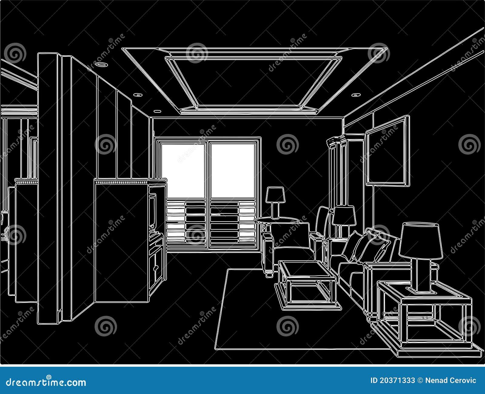 Modern Living Room Vector 04 Stock Photos Image 20371333
