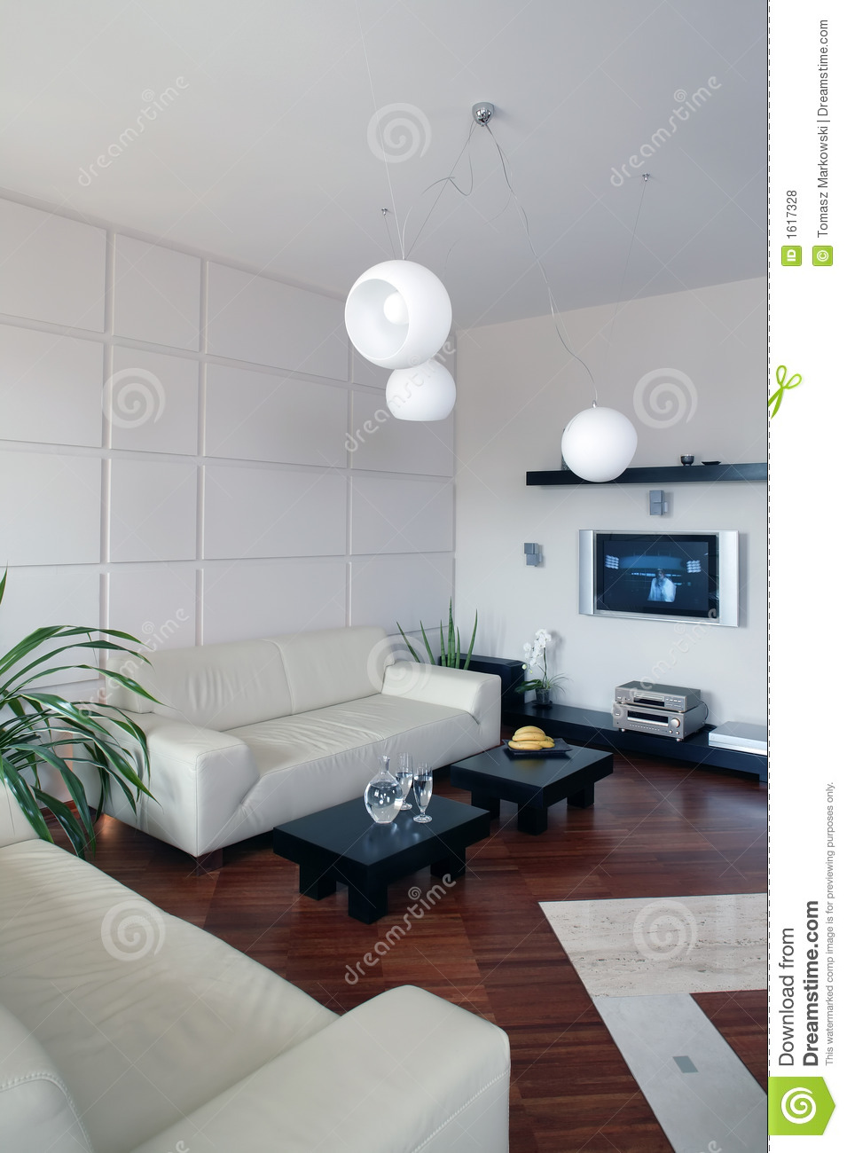 Modern Living Room Vertical Royalty Free Stock Photos
