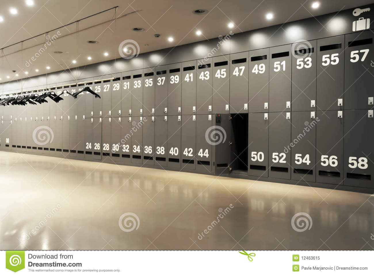 modern locker room royalty free stock photo