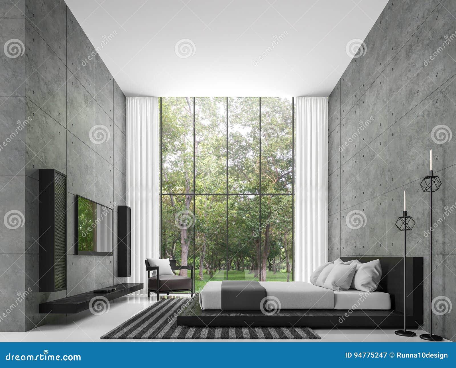 polished concrete floor loft. Modern Loft Bedroom 3d Rendering Image Stock Illustration - Of Cozy, Contemporary: 94775247 Polished Concrete Floor