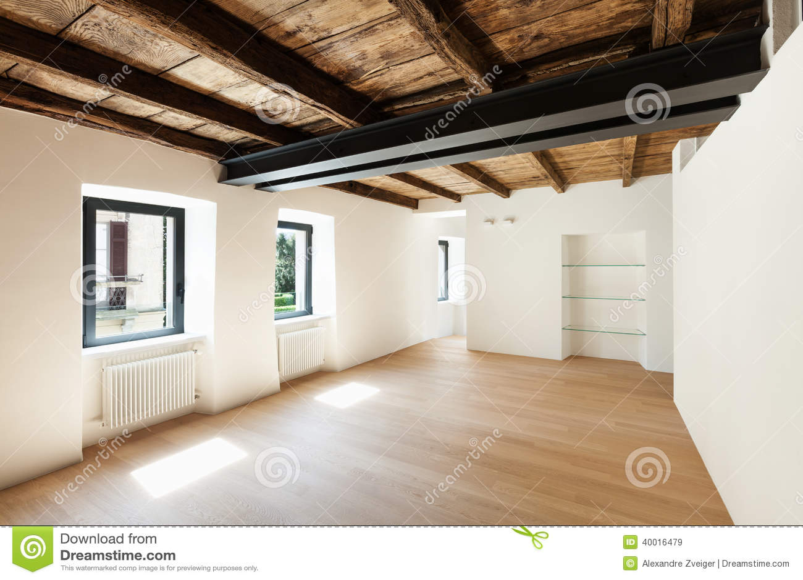 Modern Loft Empty Room Stock Photo Image 40016479