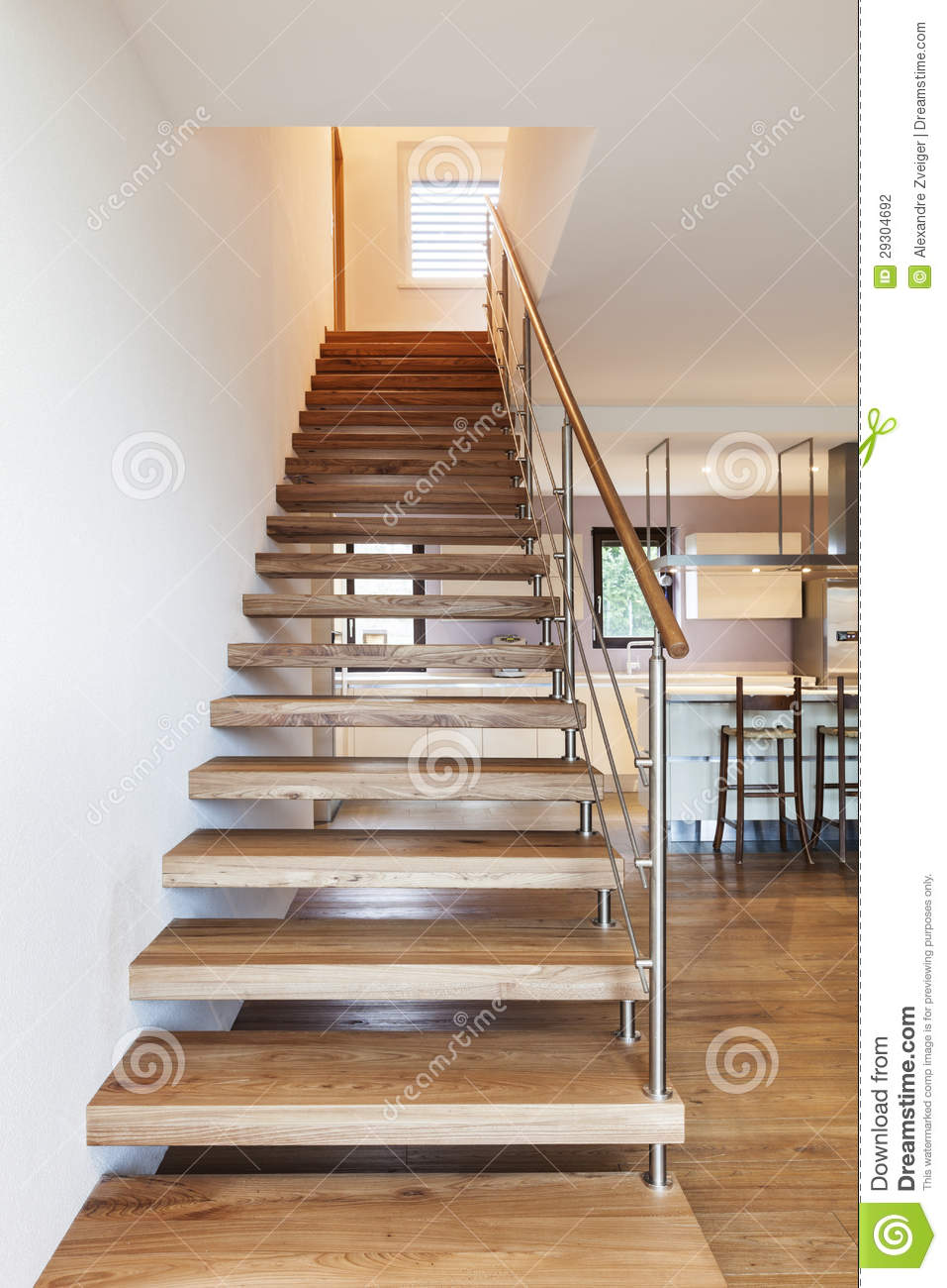 Modern Loft Staircase View Stock Photo Image Of Light