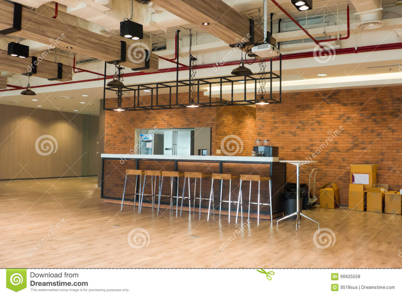 Modern Loft Stil ~ Modern loft style coffee bar stock photo image