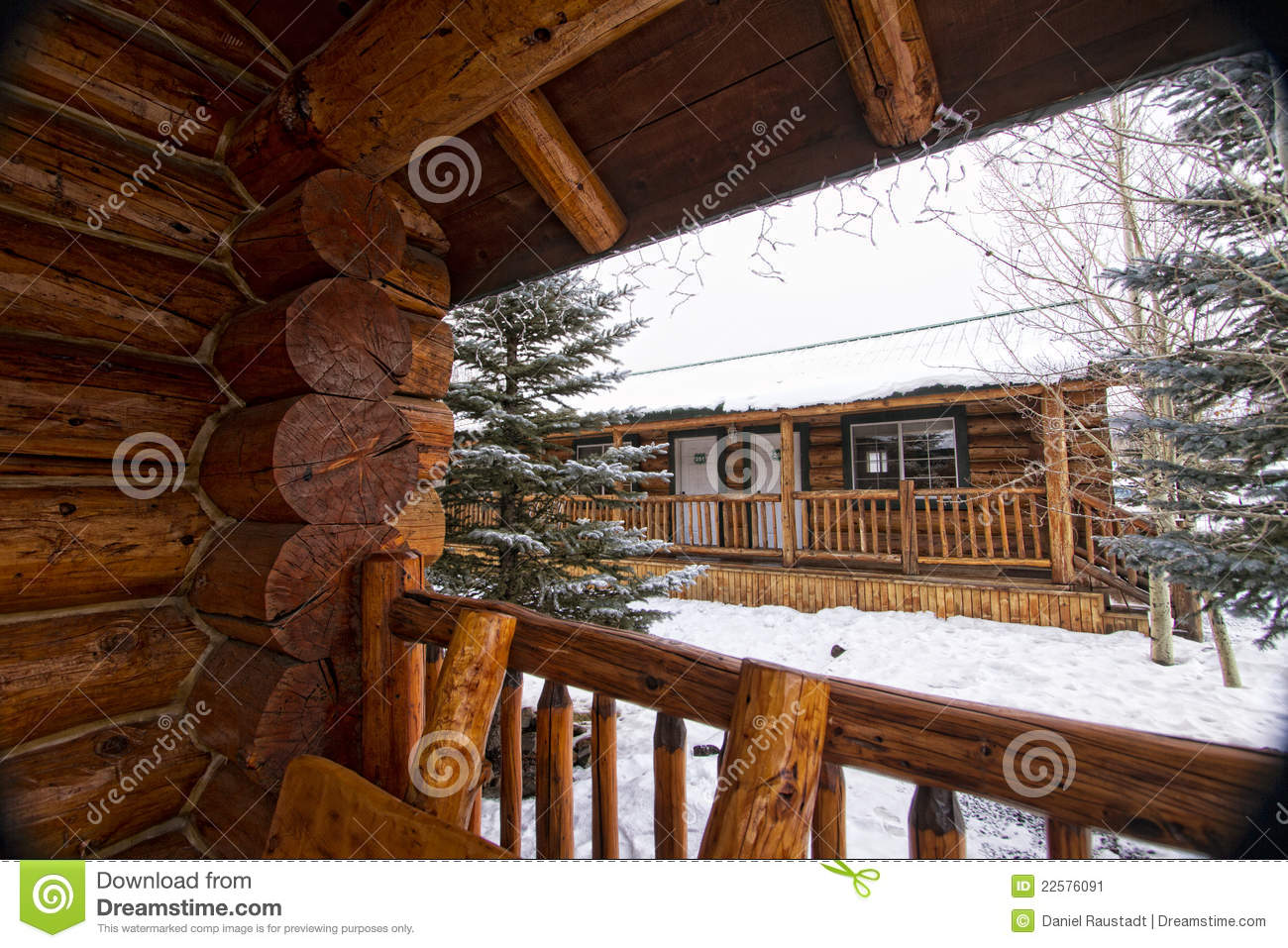 Log cabin in the woods winter - Royalty Free Stock Photo Download Modern Log Cabin Home In The Winter Woods