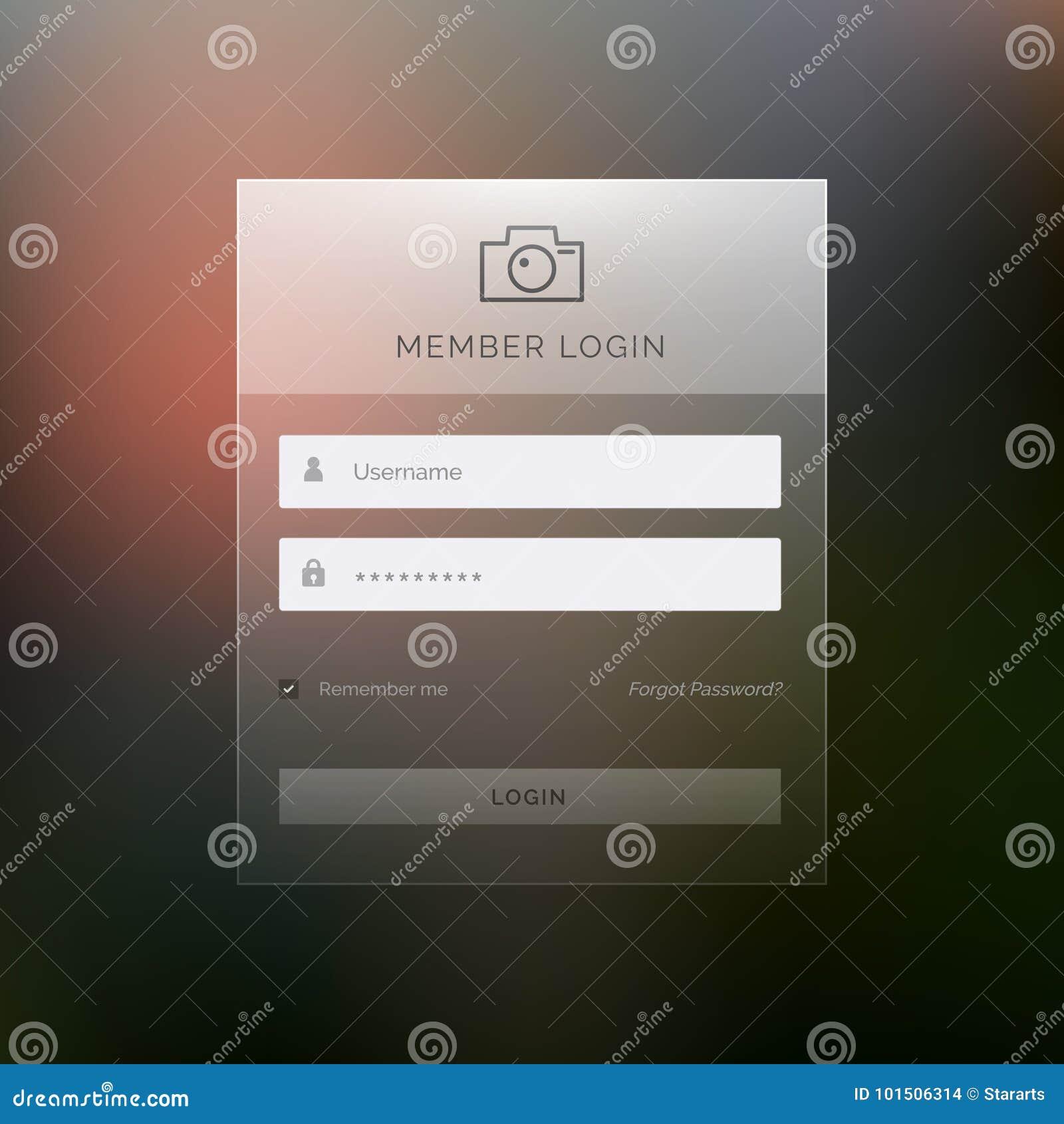 Modern Login Template Form Ui Design Vector Stock Vector ...