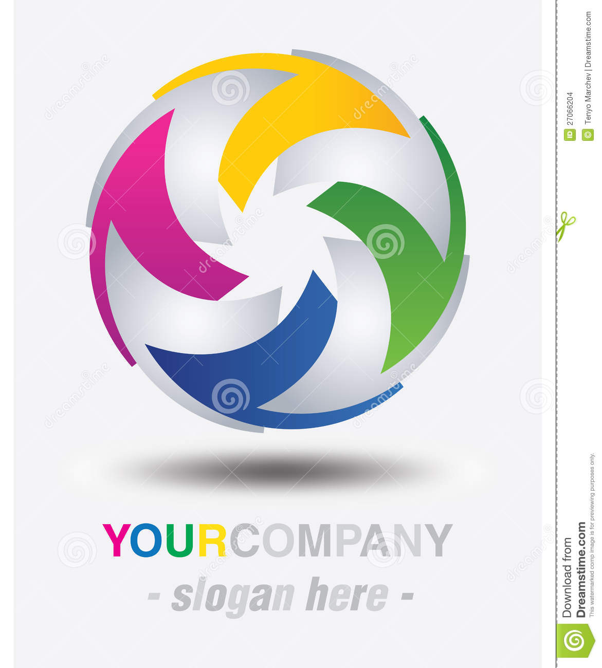 Modern Logo Design Stock Images - Image: 27066204
