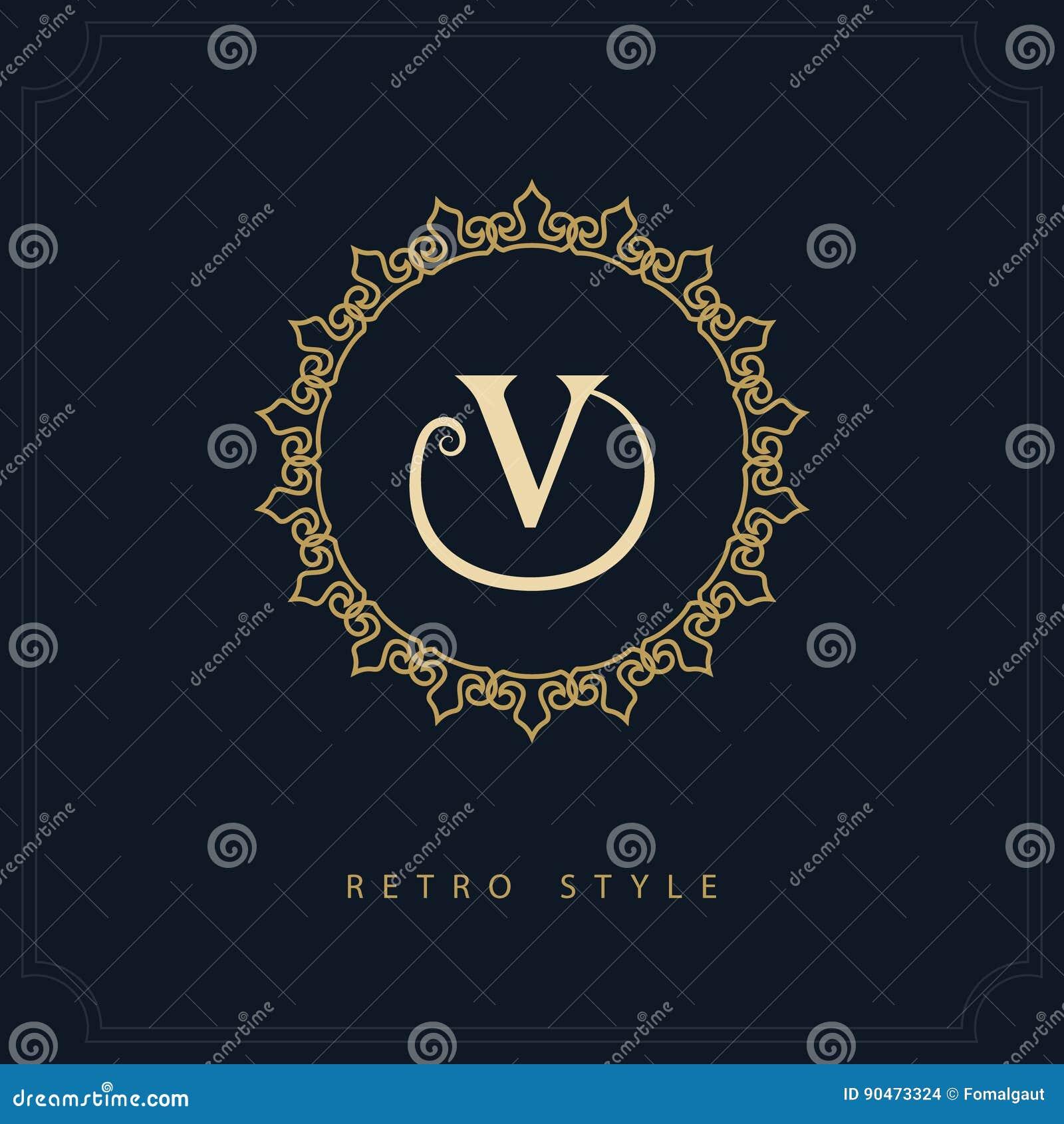 modern logo design geometric initial monogram template letter