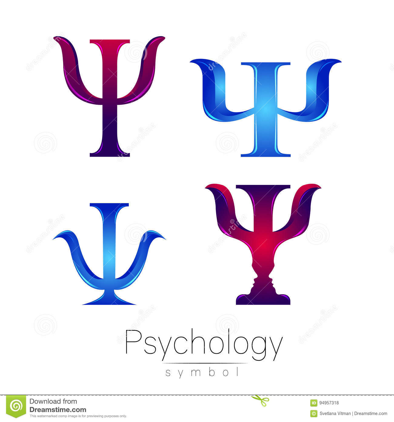 Modern Professional It Company Logo Design For Concept: Modern Logotype Sign Set Of Psychology. Psi. Creative